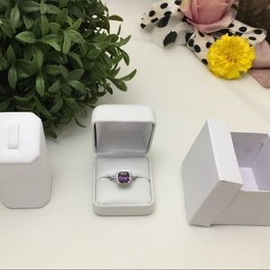 Jewelry - 🛑53% OFF⁉️Sterling Silver Amethyst Crystal Ring